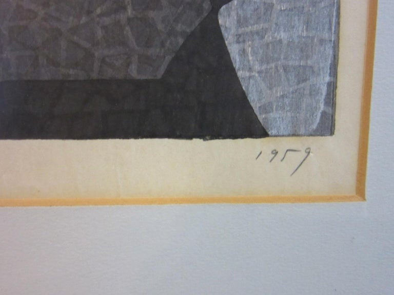 Japanese Wood Block Print by Mabuchi Toru For Sale 2