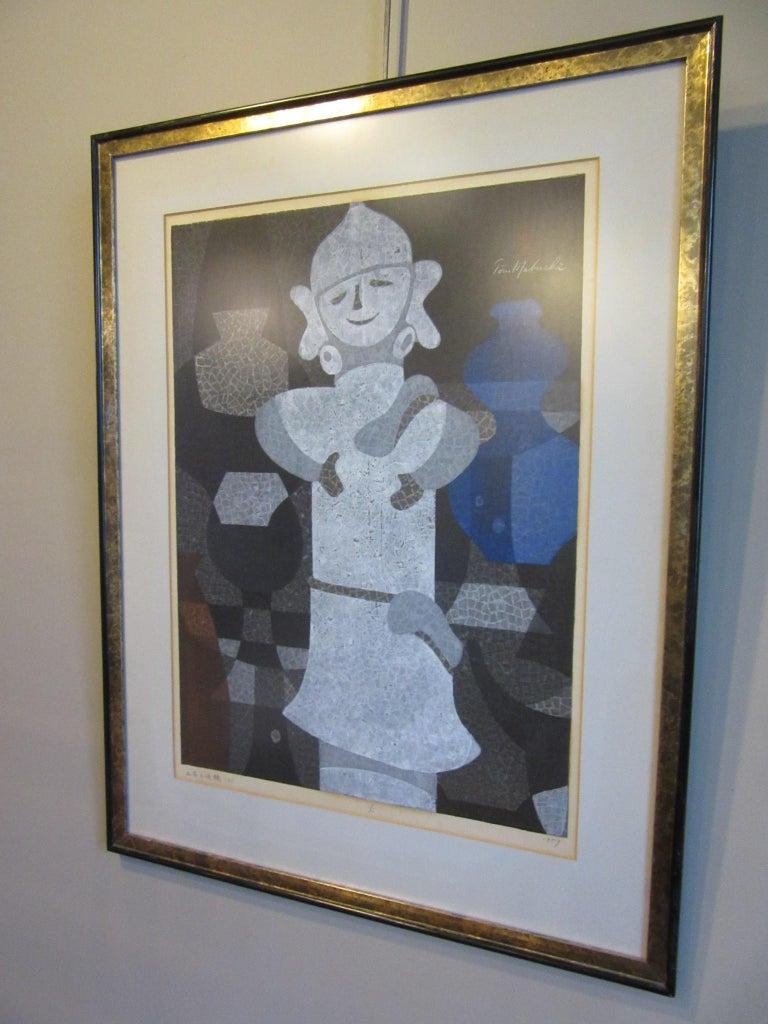 Japanese Wood Block Print by Mabuchi Toru For Sale 3