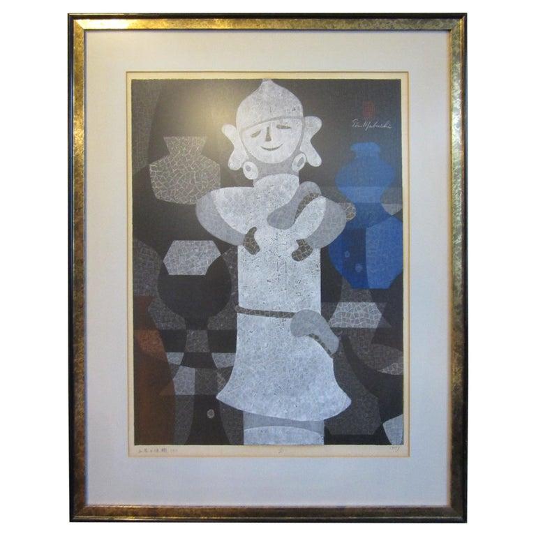 Japanese Wood Block Print by Mabuchi Toru For Sale