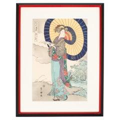 Japanese Woodcut Print Utagawa Kunisada 'Toyokuni III', Kyoto, Japan C.1950