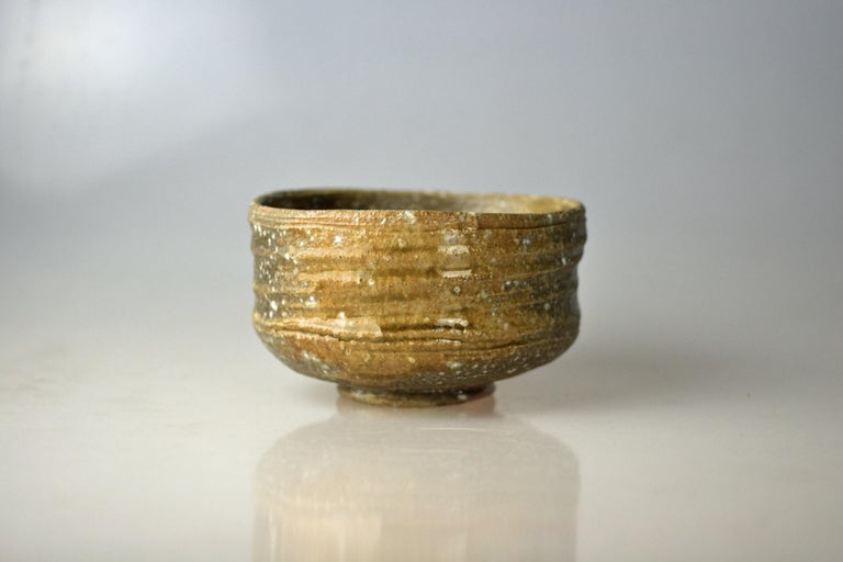 Showa Japanese Woodfired Handmade Matcha Tea Bowl by Takahashi Rakusai IV For Sale