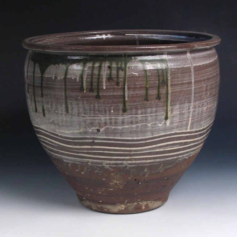 Edo Japanese Yumino Wax Bean Storage Jar, For Sale