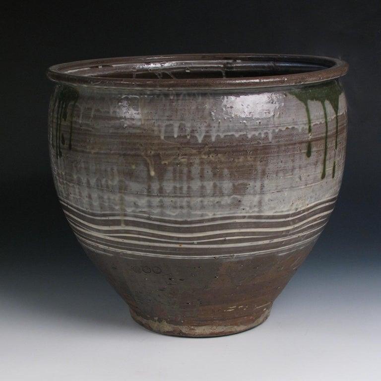 Hand-Crafted Japanese Yumino Wax Bean Storage Jar, For Sale