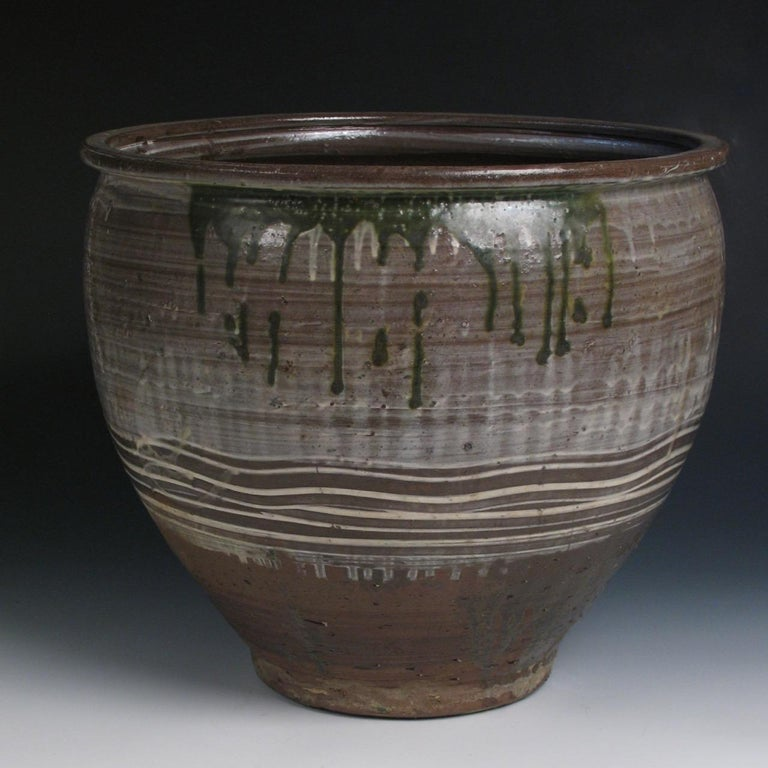 Japanese Yumino Wax Bean Storage Jar, In Good Condition For Sale In New York, NY