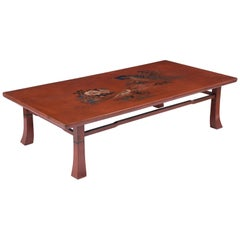 Japanese Zataku Painted Coffee Table