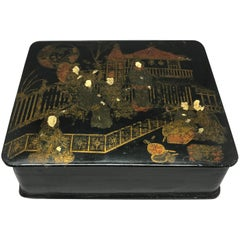 Japanned Black Lacquered Box