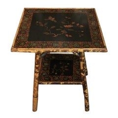 Edwardian Japanned Bamboo Table