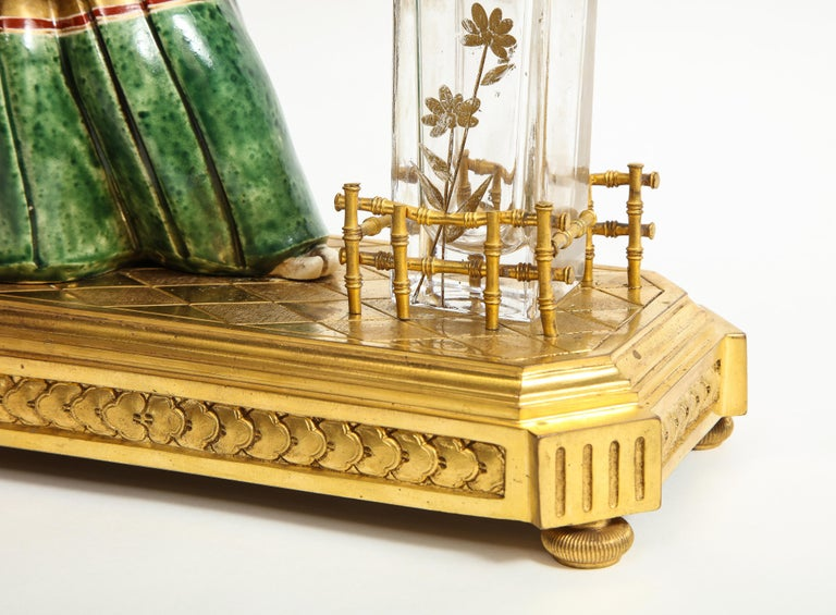 Japonisme French Ormolu, Japanese Porcelain and Glass Centerpiece, circa 1870 For Sale 10