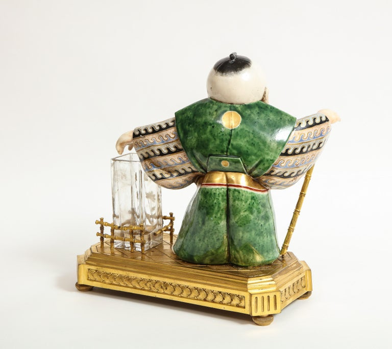 Japonisme French Ormolu, Japanese Porcelain and Glass Centerpiece, circa 1870 For Sale 13