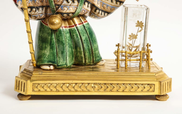 Japonisme French Ormolu, Japanese Porcelain and Glass Centerpiece, circa 1870 For Sale 5