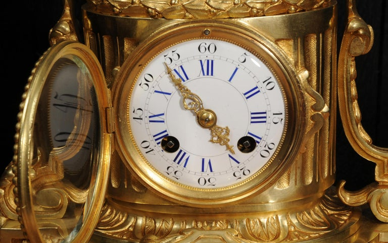 Japy Freres Antique French Ormolu Boudoir Clock For Sale 3