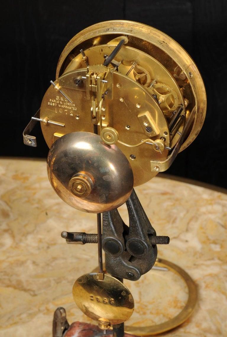 Japy Freres Messingbeschläge und Sevres Porzellan antike französische Uhr Set 17