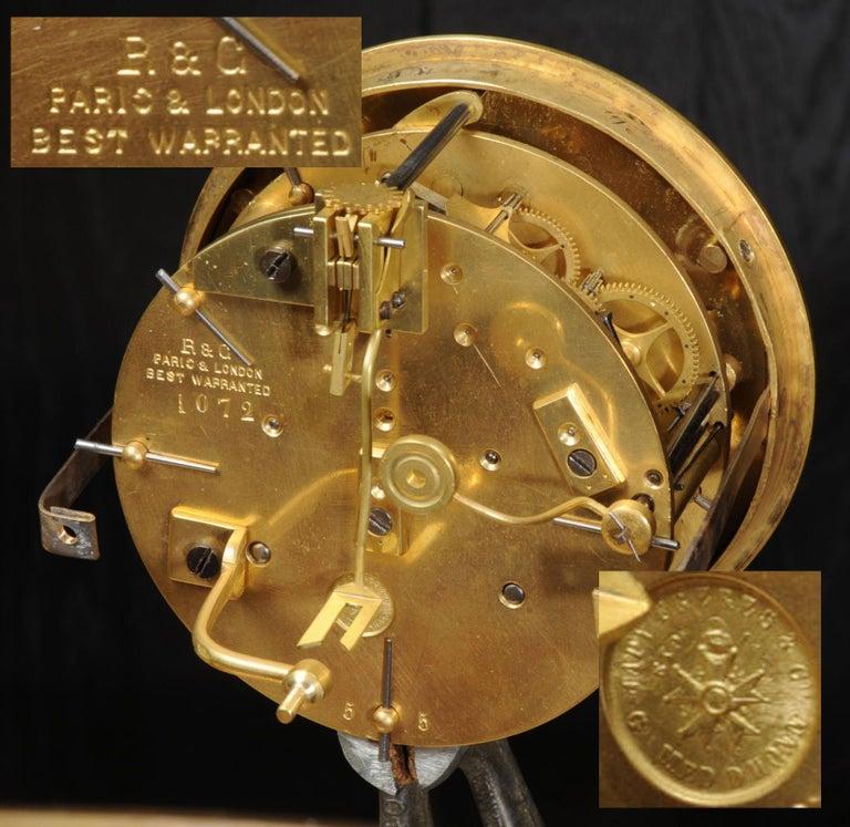 Japy Freres Messingbeschläge und Sevres Porzellan antike französische Uhr Set 20