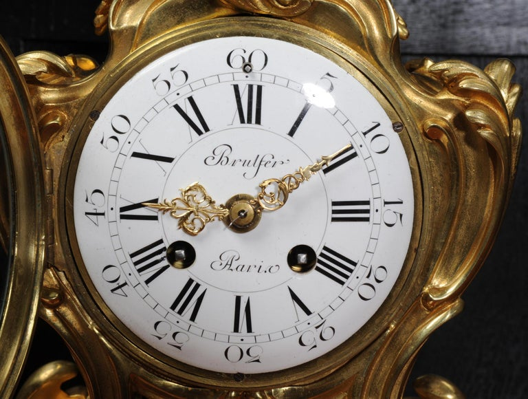 Japy Freres Ormolu Rococo Antique French Clock For Sale 9