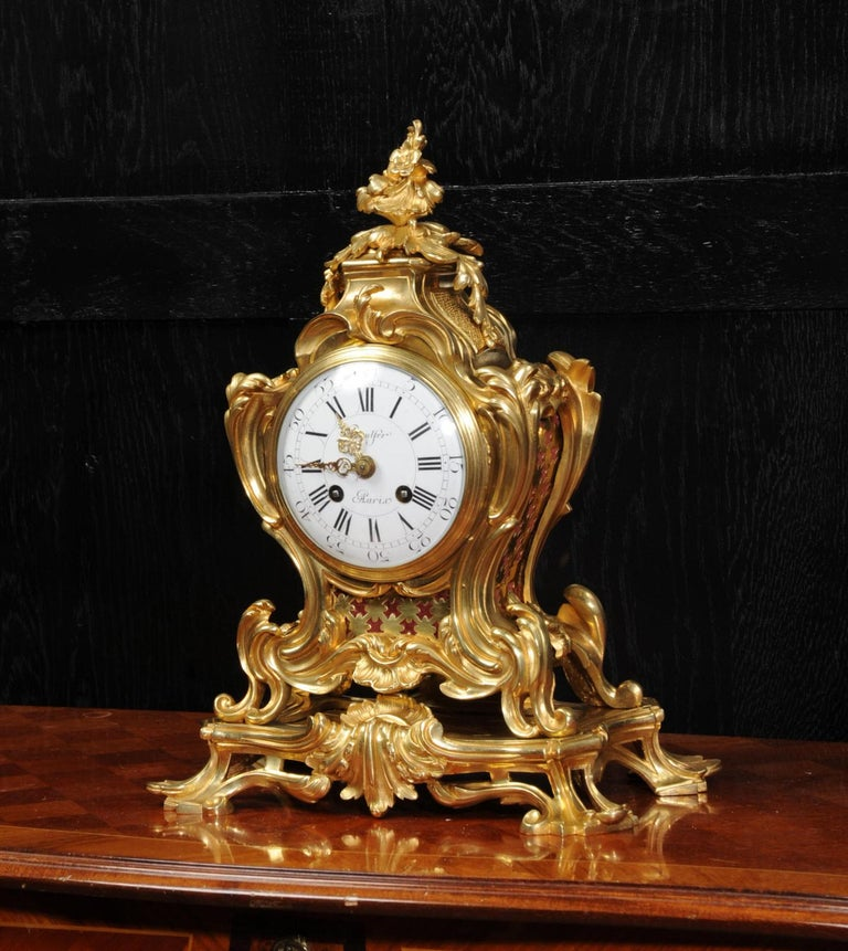 Japy Freres Ormolu Rococo Antique French Clock For Sale 2