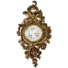 Japy Freres-Schindler 19th Century Louis XV Bronze Rococo Cartel Clock, France