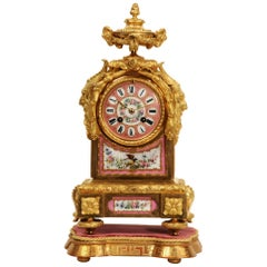 Japy Frères Sèvres Porcelain and Ormolu Antique French Clock