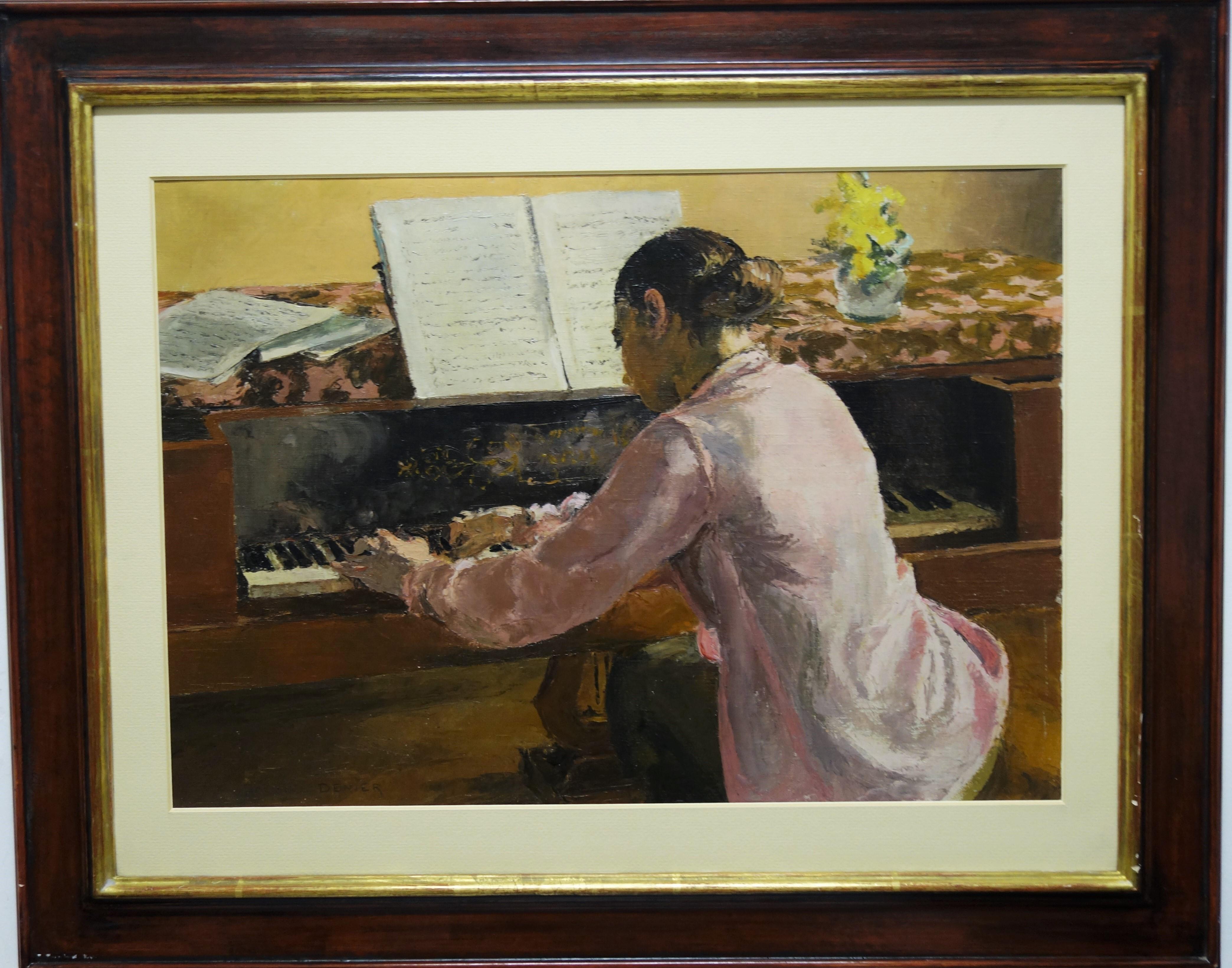 """Jeune fille au piano"" Girl, Piano, Music, Pianist ,1930,"