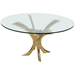 Jaques Duval Brasseur signed Dining Table, France, 1970