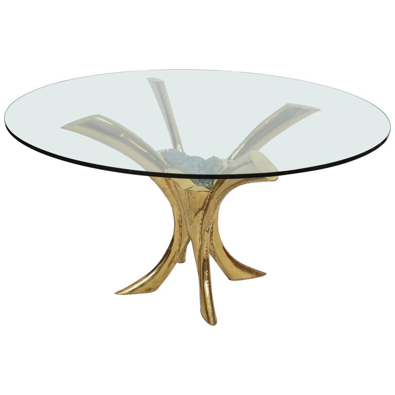 Jaques Duval Brasseur signed Dining Table, France, 1970 For Sale
