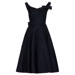Jaques Heim Superb Demi Couture 1950s New Look Black Cocktail Dress
