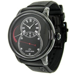 Jaquet Droz Black Ceramic Grande Seconde Self-Winding Wristwatch