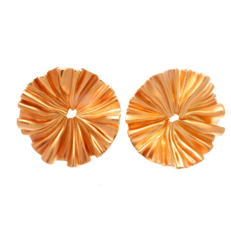 JAR Paris Aluminum Gold Earrings