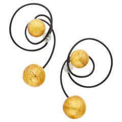 Jar Paris Titanium and Glass Carnaval Earrings