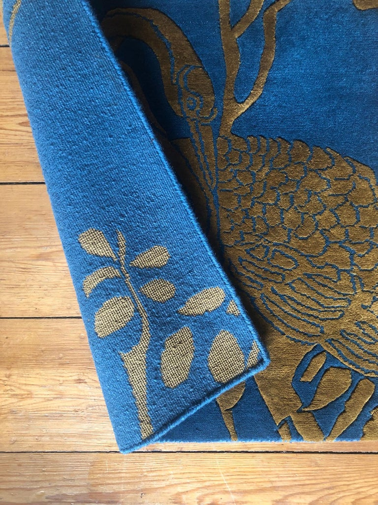 Jardin de Chinois is a hand knotted wool and silk rug by Scottish designer Wendy Morrison. The rug is handcrafted in India using only the finest wool and silk and is Goodweave certified, meaning you can be confident that no child labour has been