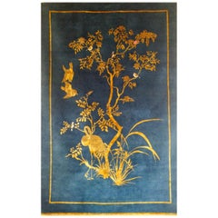 Jardin de Chinois Hand Knotted Wool and Silk Rug by Wendy Morrison