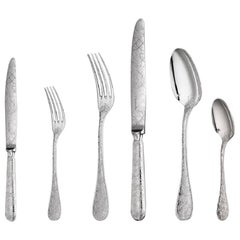 Jardin D'Eden by Christofle 36-Piece Silver Plated Flatware Set 6 w/chest Dn New