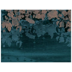 Jardin du Palais - custom mural wallpaper (dark blue)