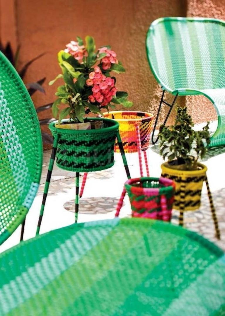 jardin suspendu set of 4 woven baskets planters for. Black Bedroom Furniture Sets. Home Design Ideas