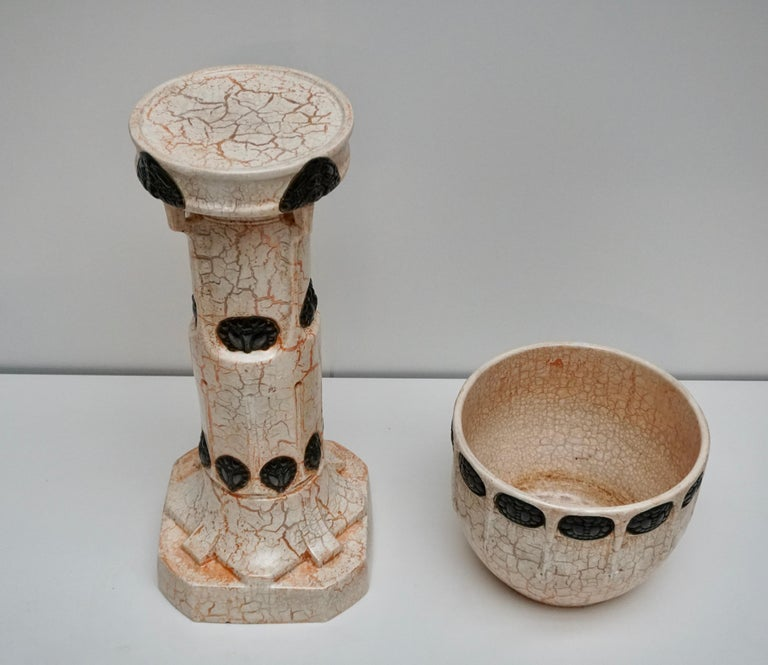 Jardinière and Matching Pedestal Stand For Sale 2