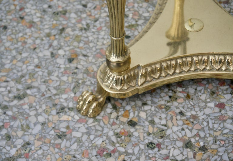 Brass Jardinière Stand Pedestal For Sale