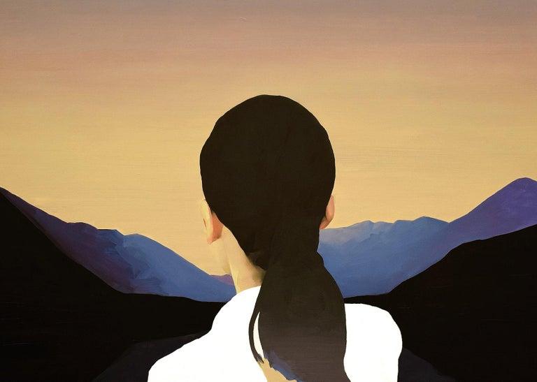 Caspar's Daughter - Contemporary Painting by Jarek Puczel