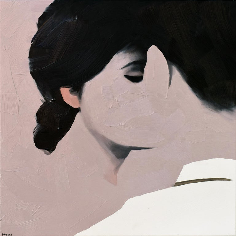 Jarek Puczel Portrait Painting - Lovers IX - Contemporary Figurative Oil Painting, Landscape, Portrait, Love