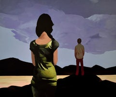 No-Man's-Land - Contemporary Figurative Oil Painting, Romantic, Love, Landscape
