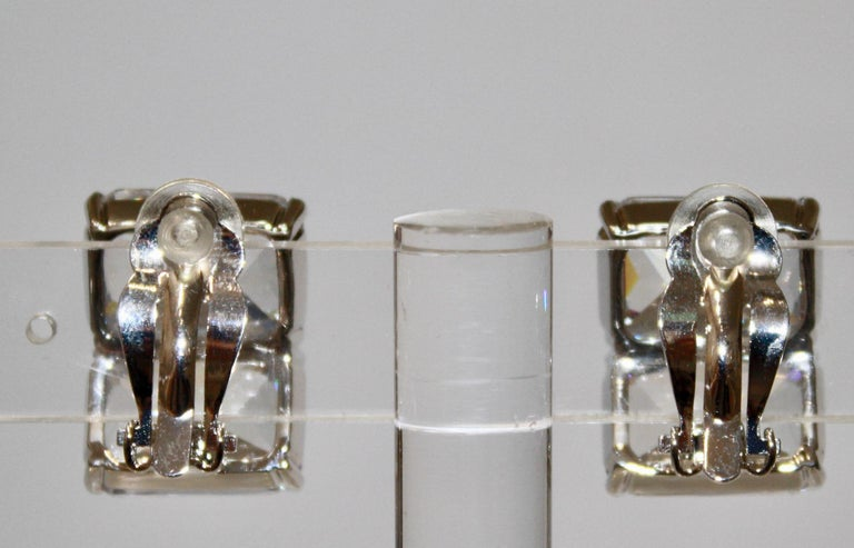 Art Deco Jarin K Double Octagon zircon Earrings