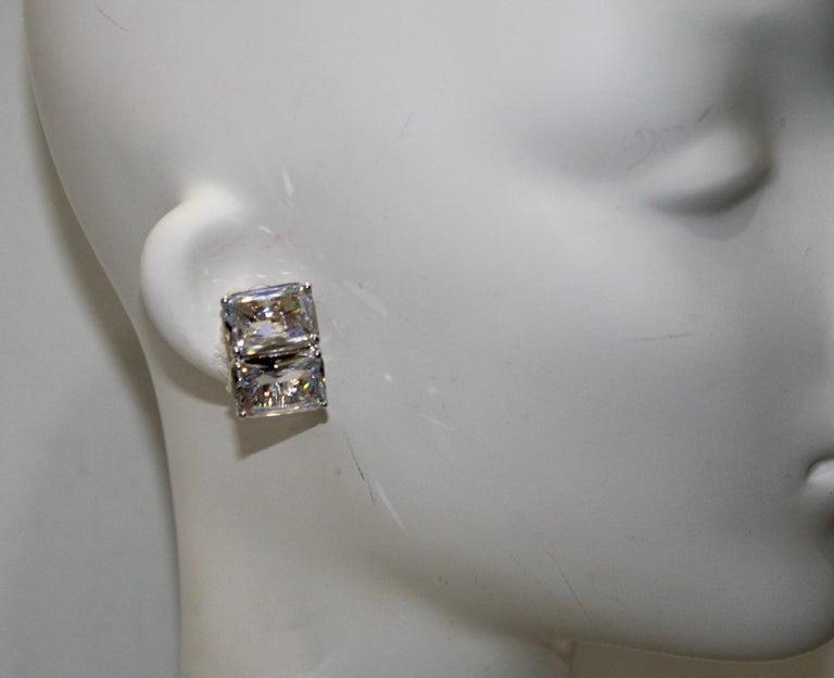 Jarin K Double Octagon zircon Earrings In New Condition In Virginia Beach, VA