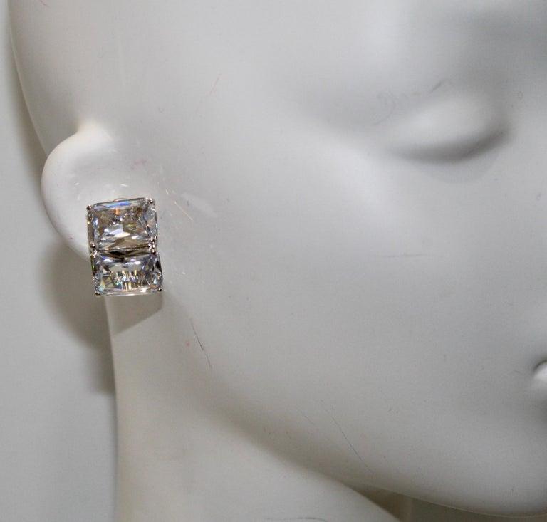 Women's or Men's Jarin K Double Octagon zircon Earrings