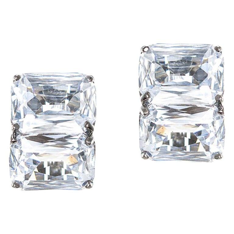 Jarin K Double Octagon zircon Earrings