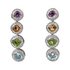 Jarin Multicolor Gemstones Drop Earrings