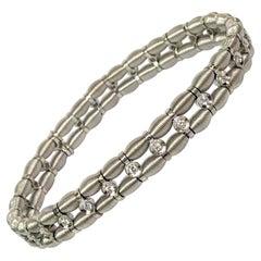 Jarretiere 18KW Diamond Stretch Bracelet