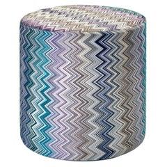 Jarris Blues cylinder pouf