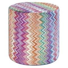 Jarris Rainbow cylinder pouf