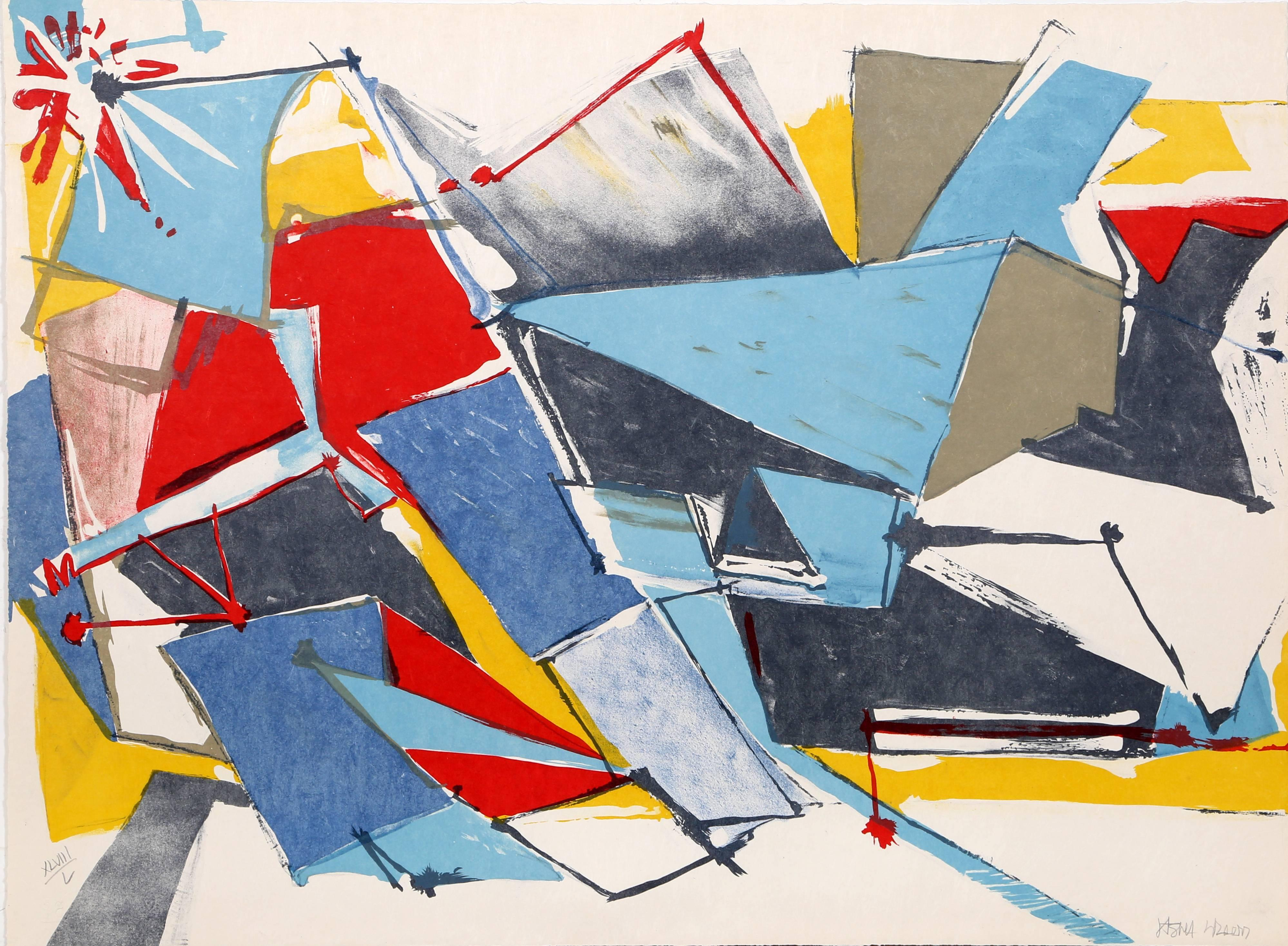 Bright Abstract Print by Jasha Green