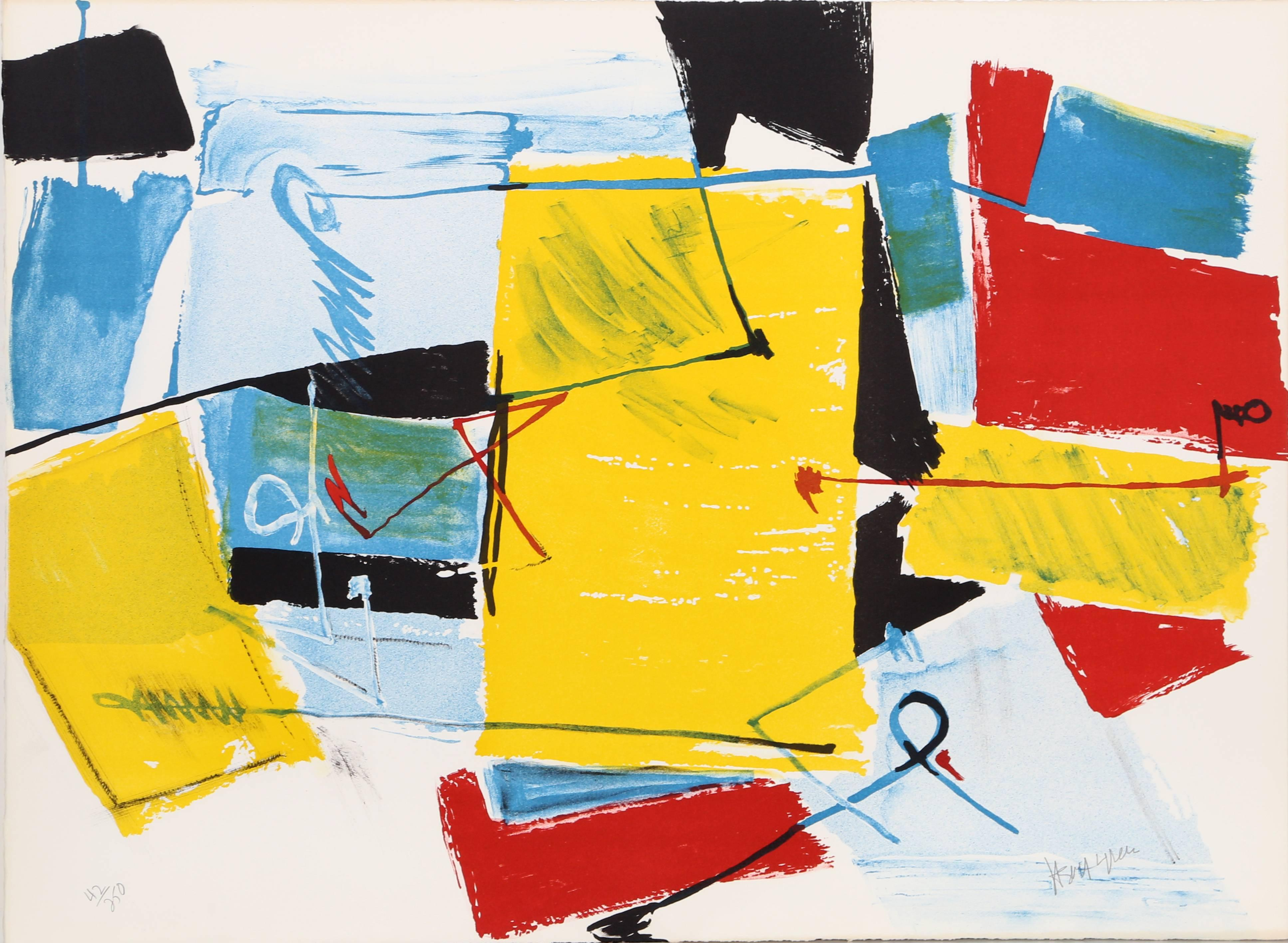 Spring Street, Abstract Lithograph by Jasha Green