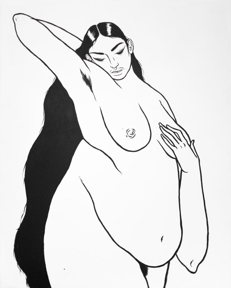 Jasjyot Singh Hans Nude Painting - LOVE, AMRITA
