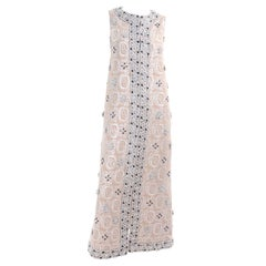 Jasmine Firenze Italian Beaded Sleeveless Silk and Lurex Evening Dress or Coat